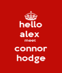 hello alex  meet  connor hodge - Personalised Poster A4 size
