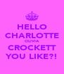 HELLO CHARLOTTE OLIVIA CROCKETT YOU LIKE?! - Personalised Poster A4 size