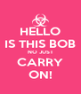 HELLO IS THIS BOB NO JUST CARRY ON! - Personalised Poster A4 size