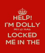 HELP! I'M DOLLY MITZI HAS LOCKED ME IN THE - Personalised Poster A4 size