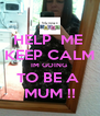 HELP  ME  KEEP CALM IM GOING  TO BE A  MUM !! - Personalised Poster A4 size