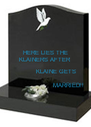 HERE LIES THE KLAINERS AFTER            KLAINE GETS                        MARRIED!!  - Personalised Poster A4 size