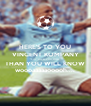 HERE'S TO YOU VINCENT KOMPANY CITY LOVES YOU MORE THAN YOU WILL KNOW woooaaaaaooooh.... - Personalised Poster A4 size
