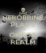 HEROBRINE PLAYS ON OMEGA REALM - Personalised Poster A4 size