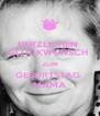 HERZLICHEN  GLÜCKWUNSCH  ZUM GEBURTSTAG  MAMA - Personalised Poster A4 size
