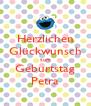 Herzlichen Glückwunsch zum Geburtstag Petra - Personalised Poster A4 size