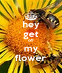 hey get off my flower - Personalised Poster A4 size