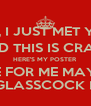 HEY, I JUST MET YOU  AND THIS IS CRAZY HERE'S MY POSTER VOTE FOR ME MAYBE?? ADRIANE GLASSCOCK HISTORIAN - Personalised Poster A4 size