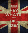 HEY WHATS  THE BIG IDEA - Personalised Poster A4 size