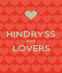 HINDRYSS love LOVERS  - Personalised Poster A4 size