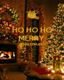 HO HO HO MERRY CHRISTMAS   - Personalised Poster A4 size