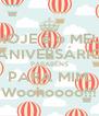 HOJE é o MEU ANIVERSÁRIO PARABÉNS PARA MIM. Woohoooo!!! - Personalised Poster A4 size