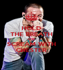 HOLD THE BREATH AND SCREAM WITH CHESTER - Personalised Poster A4 size