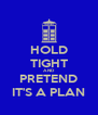 HOLD TIGHT AND PRETEND IT'S A PLAN - Personalised Poster A4 size
