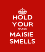 HOLD YOUR NOSE MAISIE  SMELLS - Personalised Poster A4 size
