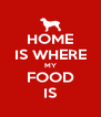 HOME IS WHERE MY FOOD IS - Personalised Poster A4 size