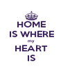 HOME IS WHERE my HEART IS - Personalised Poster A4 size