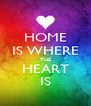 HOME IS WHERE THE HEART IS - Personalised Poster A4 size