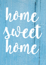 home sweet home - Personalised Poster A4 size