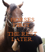 HORSES FIRST.  THE REST LATER. - Personalised Poster A4 size