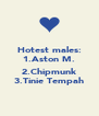 Hotest males: 1.Aston M.  2.Chipmunk 3.Tinie Tempah - Personalised Poster A4 size
