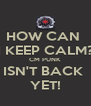HOW CAN  I KEEP CALM? CM PUNK ISN'T BACK  YET! - Personalised Poster A4 size