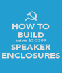HOW TO BUILD cat no 62-2309 SPEAKER ENCLOSURES - Personalised Poster A4 size