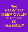 HOW TO KEEP CALM WHEN THERE IS MANSAF - Personalised Poster A4 size