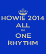 HOWIE 2014 ALL IN ONE RHYTHM - Personalised Poster A4 size