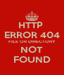 HTTP  ERROR 404 FILE OR DIRECTORY NOT FOUND - Personalised Poster A4 size