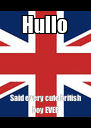 Hullo Said every cute british boy EVER - Personalised Poster A4 size