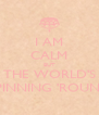 I AM CALM BUT THE WORLD'S SPINNING 'ROUND - Personalised Poster A4 size