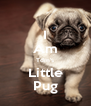 I Am Tdm's Little Pug - Personalised Poster A4 size