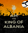 I AM THE KING OF ALBANIA - Personalised Poster A4 size