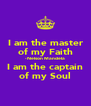 I am the master of my Faith - Nelson Mandela I am the captain of my Soul - Personalised Poster A4 size