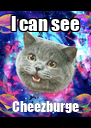 I can see Cheezburge - Personalised Poster A4 size