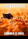 I CAN'T BELIEVE SUMMER IS OVER - Personalised Poster A4 size