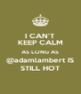 I CAN'T KEEP CALM AS LONG AS @adamlambert IS STILL HOT - Personalised Poster A4 size