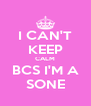 I CAN'T KEEP CALM BCS I'M A SONE - Personalised Poster A4 size