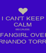 I CAN'T KEEP CALM BECAUSE I FANGIRL OVER FERNANDO TORRES - Personalised Poster A4 size