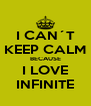 I CAN´T KEEP CALM BECAUSE I LOVE INFINITE - Personalised Poster A4 size
