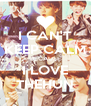 I CAN'T KEEP CALM BECAUSE I LOVE THEHUN - Personalised Poster A4 size