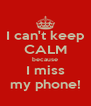 I can't keep CALM because I miss my phone! - Personalised Poster A4 size