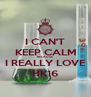 I CAN'T KEEP CALM BECAUSE I REALLY LOVE HK16 - Personalised Poster A4 size