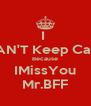 I  CAN'T Keep Calm Because IMissYou Mr.BFF - Personalised Poster A4 size