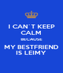 I CAN`T KEEP CALM BECAUSE MY BESTFRIEND IS LEIMY - Personalised Poster A4 size