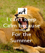 I can't keep  Calm because  School's out For the  Summer  - Personalised Poster A4 size