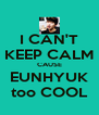 I CAN'T KEEP CALM CAUSE EUNHYUK too COOL - Personalised Poster A4 size
