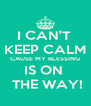 I CAN'T  KEEP CALM CAUSE MY BLESSING IS ON   THE WAY! - Personalised Poster A4 size