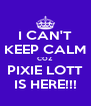 I CAN'T KEEP CALM COZ PIXIE LOTT IS HERE!!! - Personalised Poster A4 size